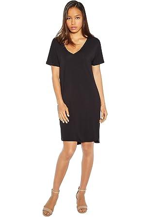 1e1aa9fb649a47 Rohb by Joyce Azria Magnolia Rolled Short Sleeve V-Neck T-Shirt Dress (