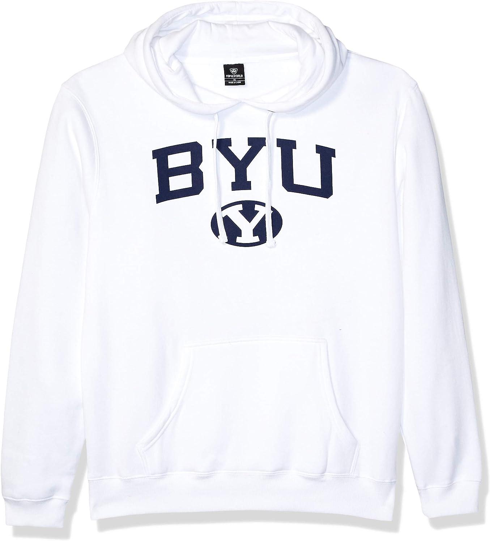 Top of the World Mens Fit White Team Arch Premium Fabric Hoodie Sweatshirt