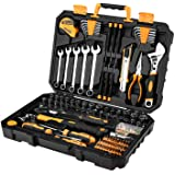 DEKOPRO 158 Pieces Tool Sets Hand Tool Kit Repair Tool Set with Plastic Box
