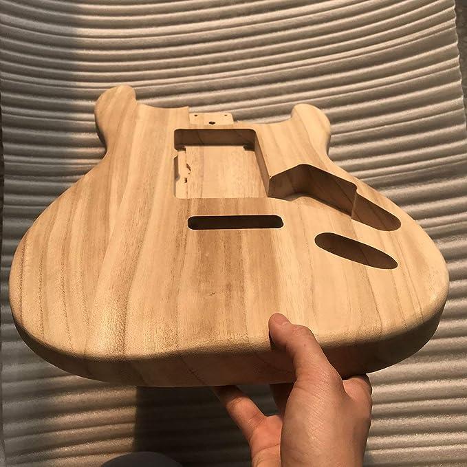 Sunnyflowk Cuerpo de arce de guitarra DIY sin terminar Cuerpo de ...