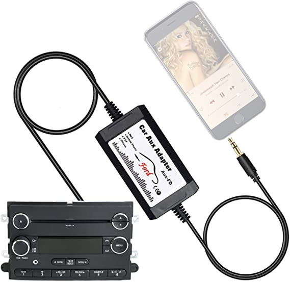 amazon.com: apps2car car stereo aux adapter audio cable for ford ... ford ipod auxiliary wiring diagram 3.5 mm headphone jack wiring diagram amazon.com