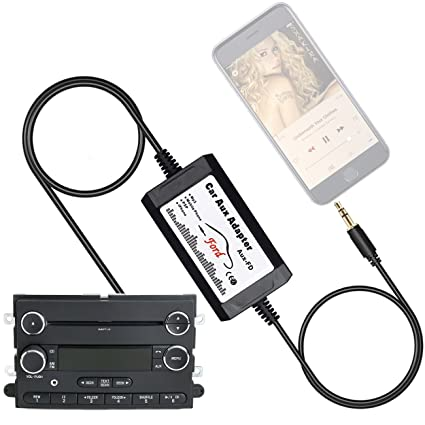 APPS2Car Car Stereo AUX Adapter Audio Cable for Ford F150 F250 F350 F550  Edge Expedition Explorer Focus Freestyle Mustang Sport Trac, Lincoln,  Mercury