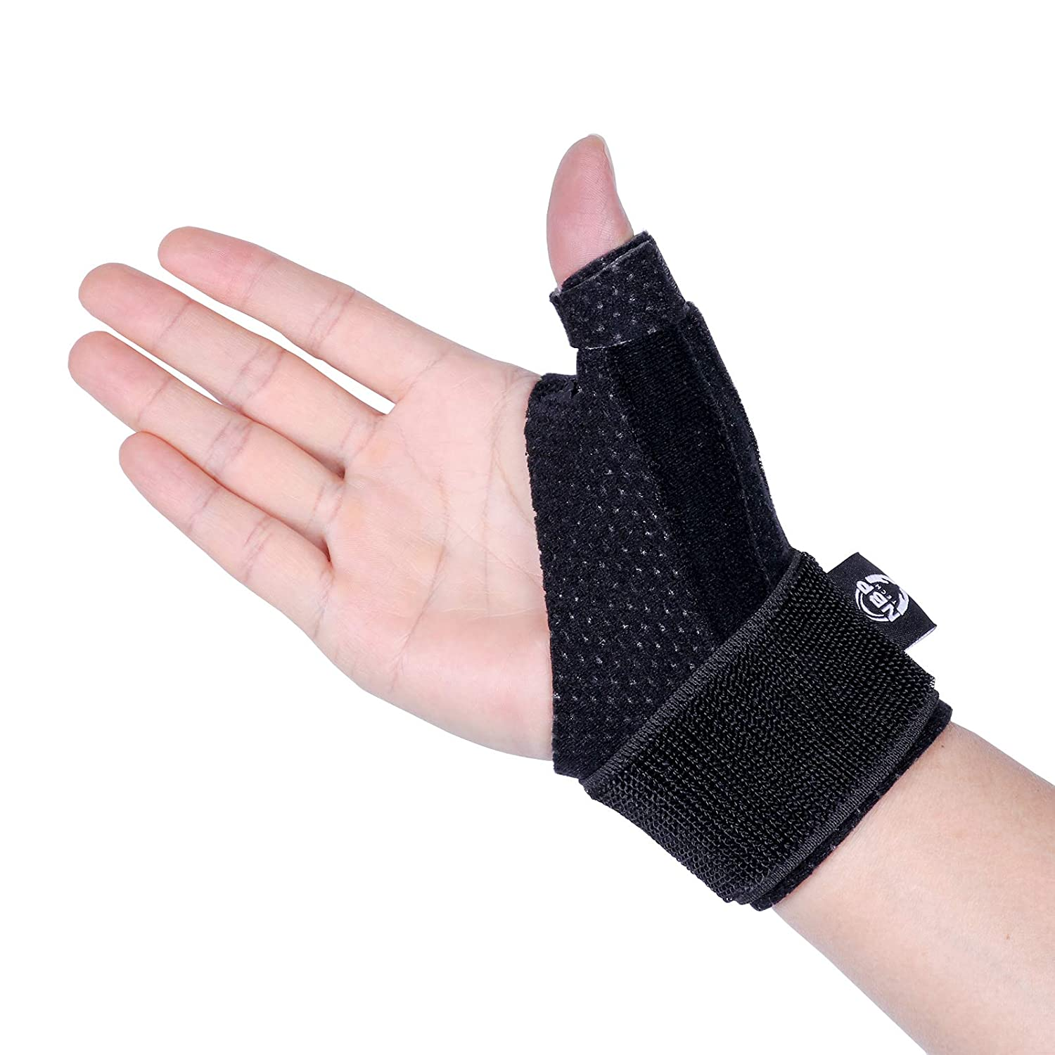 Reversible Thumb & Wrist Stabilizer Splint for BlackBerry Thumb, Trigger Finger, Pain Relief, Arthritis, Tendonitis, Sprained and Carpal Tunnel Supporting, Lightweight and Breathable
