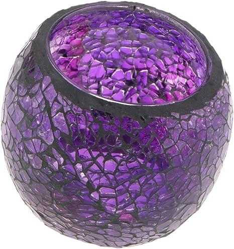 LED Teelichter Flackernd 2er Mosaik Teelichthalter Kerzenhalter