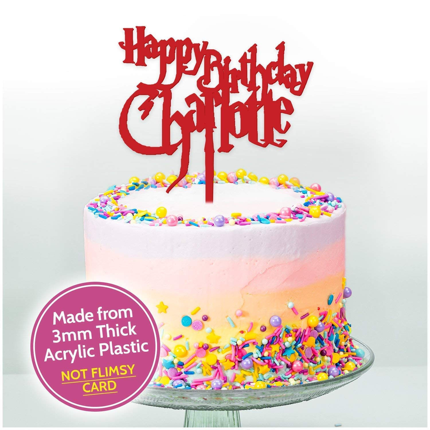 Groovy Wizard Themed Personalised Cake Topper Birthday Cake Decorations Personalised Birthday Cards Paralily Jamesorg