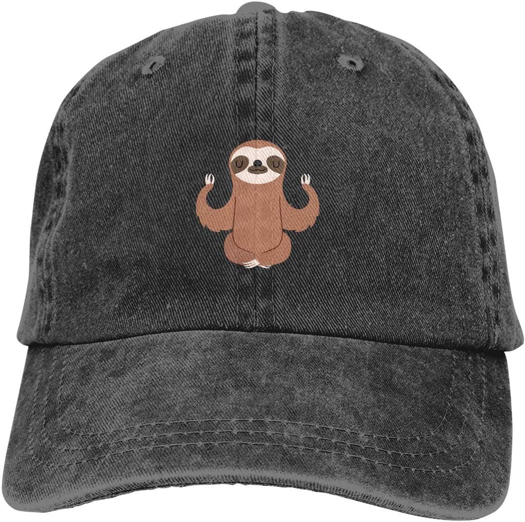 قبعة Denim Cap Sloth Doing Yoga Dad قبعات بيسبول قابلة للتعديل رياضية كلاسيكية للرجال والنساء قبعة