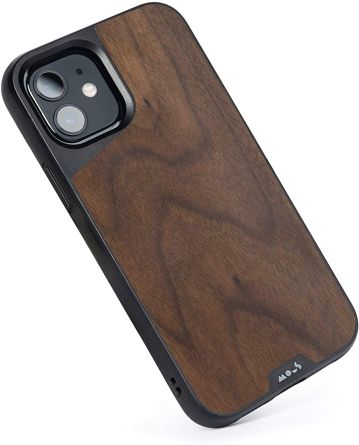 Mous - Protective Case for iPhone 12/12 Pro - Limitless 3.0 - Walnut - No Screen Protector