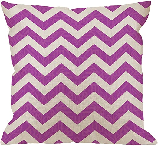 Chic Shades of Purple Chevron Design Comforter Set AND Decorative Pillows
