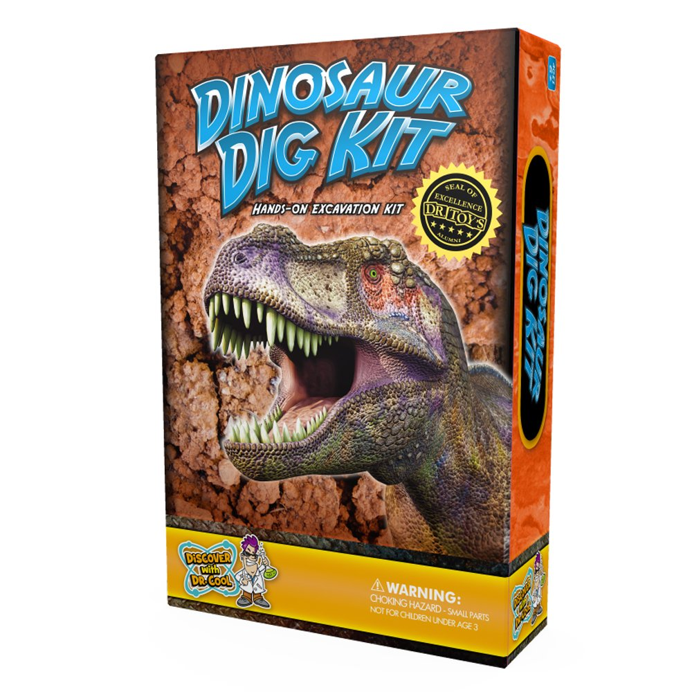 Dinosaur Dig Science Kit – Dig Up and Collect 3 Real Dinosaur Fossils!