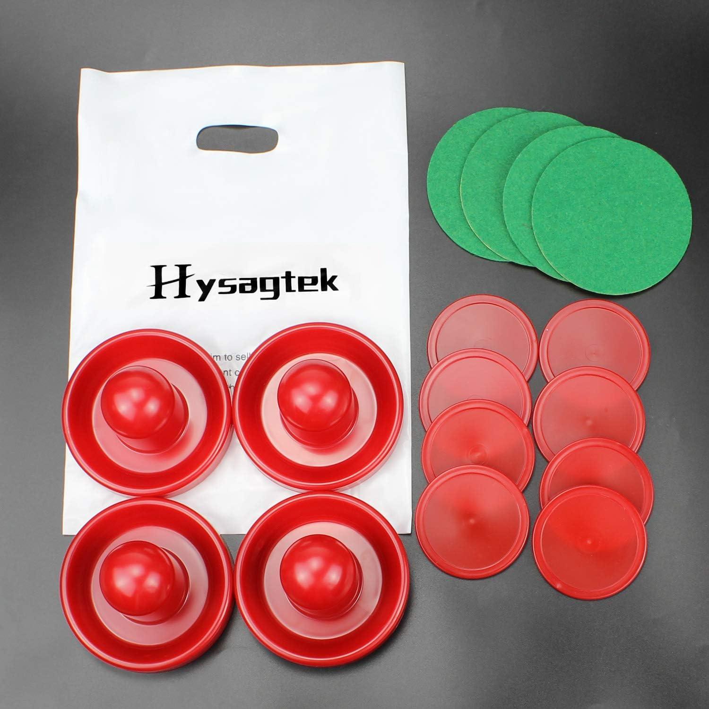 Hysagtek - Juego de 4 botes de hockey de aire de 96 mm, con 8 piezas, color rojo: Amazon.es: Deportes y aire libre