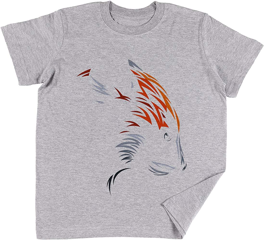 Vendax Tribal Rojo Panda Niños Chicos Chicas Unisexo Camiseta Gris: Amazon.es: Ropa y accesorios