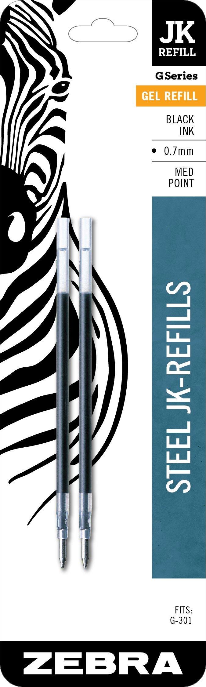 Recarga Tinta Zebra Pen 0.7mm Negro (G-301) [2un.]