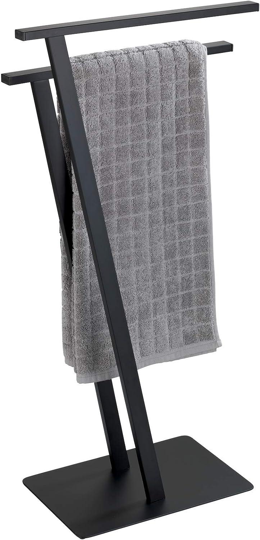 Wenko Handtuchst/änder Lirio Schwarz matt Kleiderst/änder Metall 20 x 76.5 x 40 cm