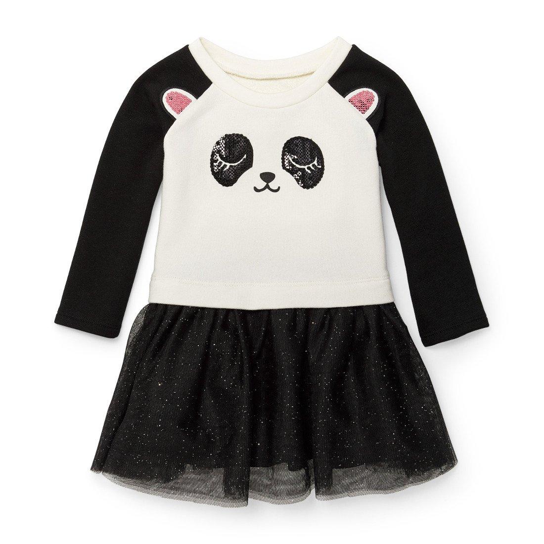The Children s Place Baby Little Girls  Knit Panda Dress f542f58775c
