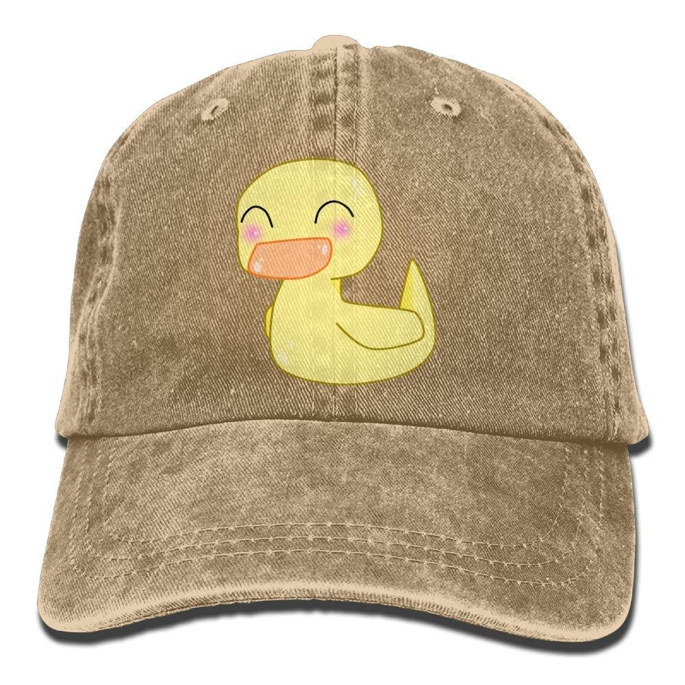 Cute Duck Plain Adjustable Cowboy Cap Denim Hat for Women and Men