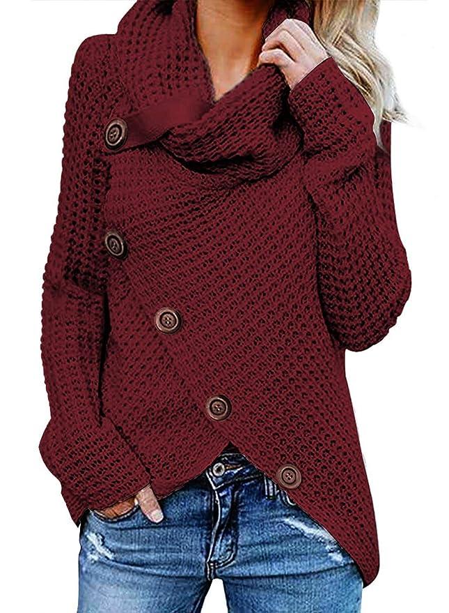 Sweatshirt Pull Tricoté À Tops G Grande Blouse FemmeChemise Coton Sweats Taille Shirt Chandail Asymétrie En Anica Longues Cardigan Manches Femme fgyY76b