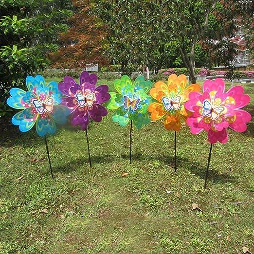Yifeicx - Molinillo de Juguete para jardín, decoración de Insectos, diseño de Mariposas, para niños, Juguetes, Regalos, jardín, Volante, Molinillo Colorido: Amazon.es: Jardín