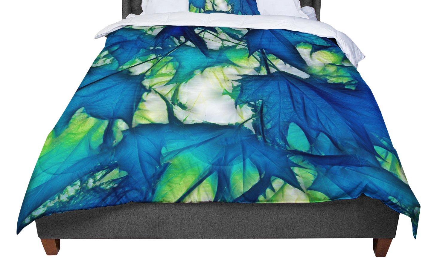 KESS InHouse Alison Coxon Leaves Twin Comforter 68 X 88