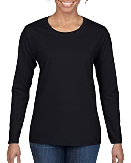 fc3e6ac2 Gildan Heavy Cotton Ladies' Long-Sleeve T-Shirt, Wht at Amazon ...