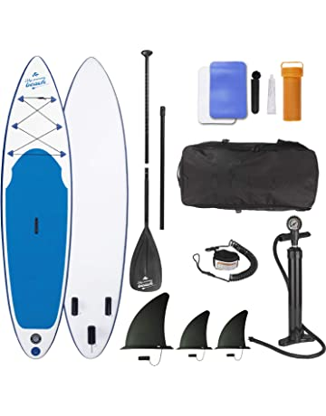 EASYmaxx Tabla Paddle Surf Hinchable para Principiantes con Bomba de Acción Doble, Funda Plegable y