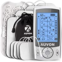 AUVON Dual Channel TENS Unit Muscle Stimulator Machine
