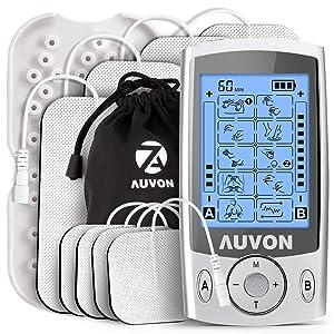 AUVON Dual Channel TENS Unit Muscle Stimulator Machine