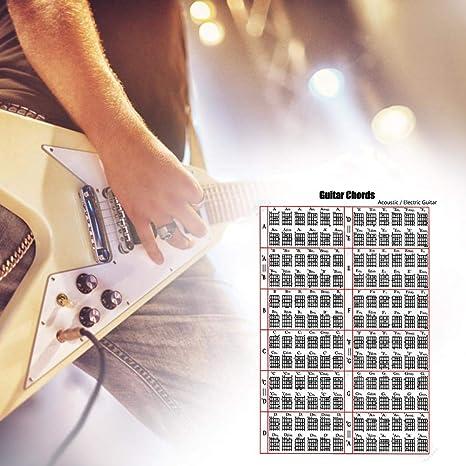 Muspor Ballade - 6 diagramas de acordes para guitarra eléctrica y diapasón, 16x24inch
