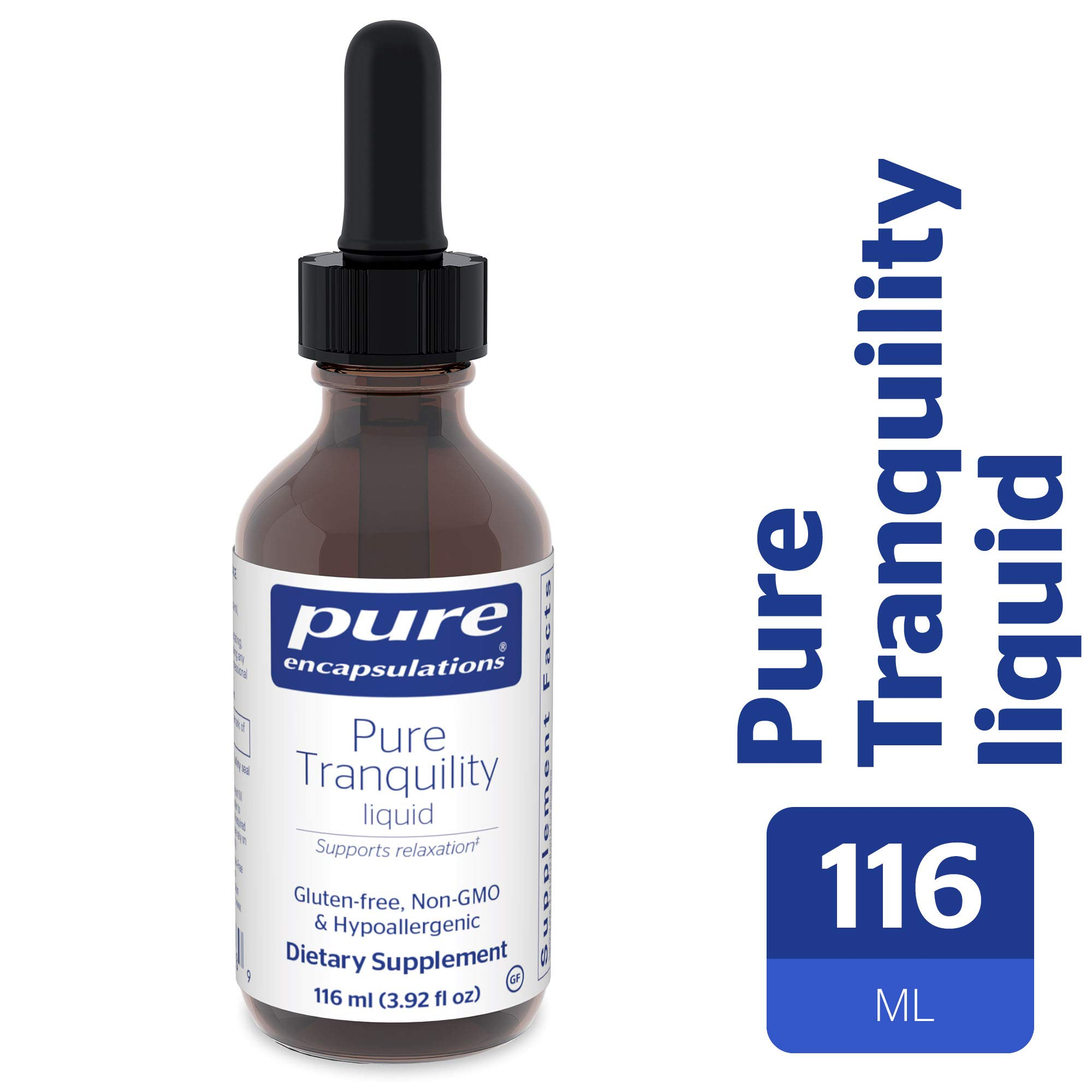 Pure Encapsulations - Pure Tranquility Liquid - Hypoallergenic Supplement to Support Relaxation and Moderate Occasional Stress* - 116 ml (3.92 fl oz)