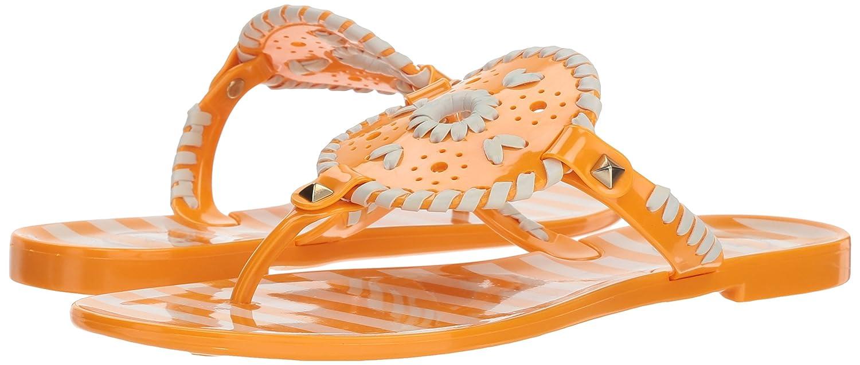 a700214652db Amazon.com  Jack Rogers Women s Striped Georgica Jelly Flat Sandal  Shoes