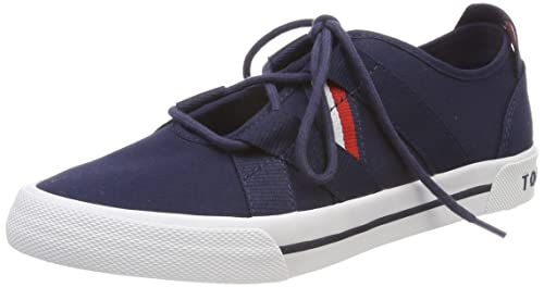 7420623f8db6f Tommy Hilfiger Women s Heritage Open Lace Up Sneaker Low-Top  Amazon ...