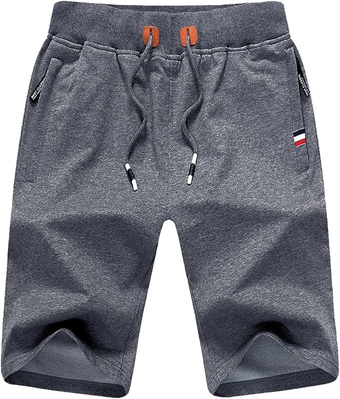 Vêtements Shorts De Sport Short De Sport Pour Homme En Coton Avec Fermeture éclair