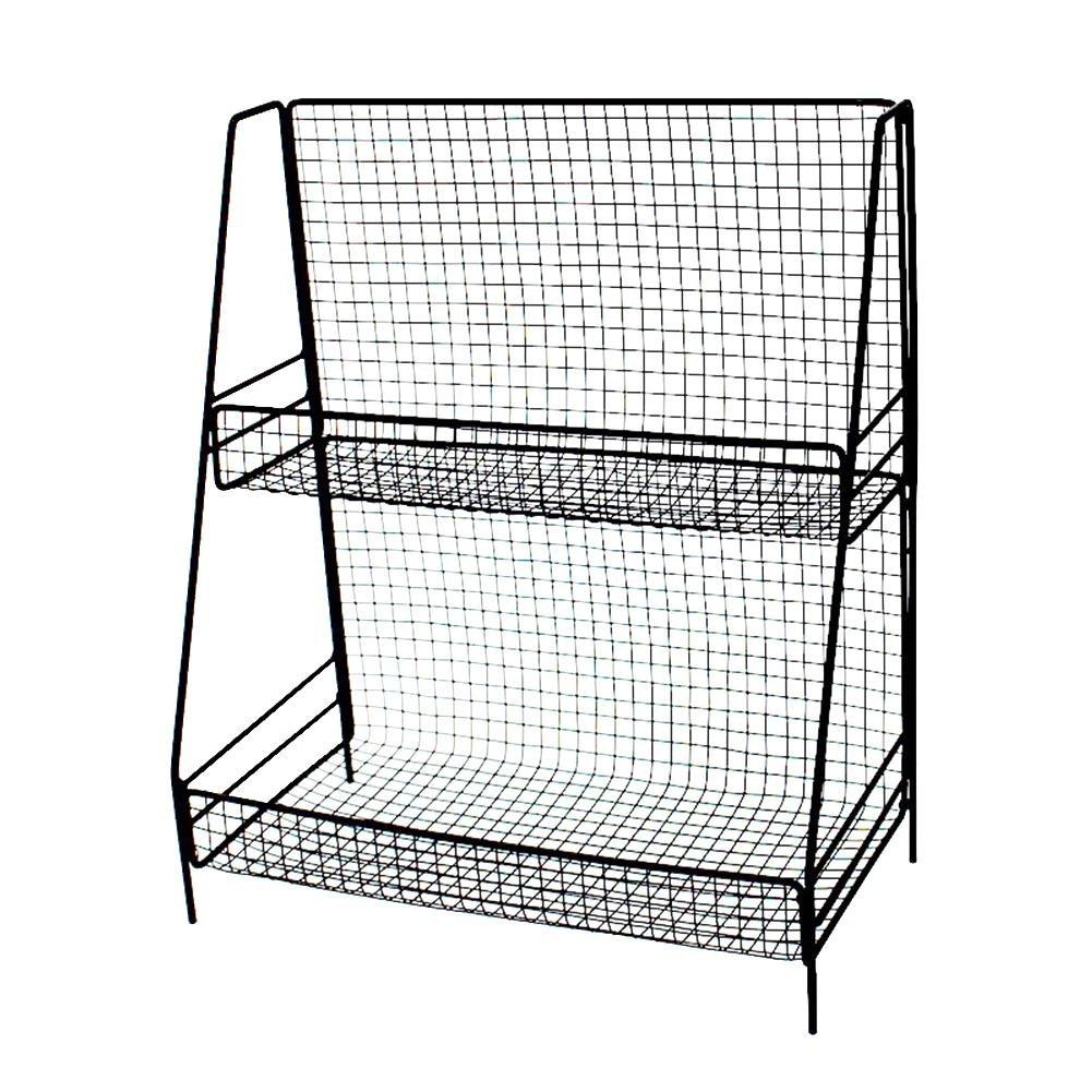 Househome Steel Corner Shelf Insert, Tidy Organizer Storage Space Saver Shelf Dryer for Kitchen,Desk,Cosmetics,SkinCareProducts,FlowerTrays,Racks,StorageBaskets