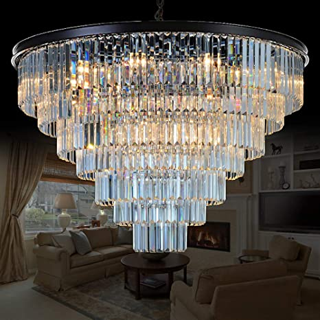 Meelighting 24 Lights Empress Crystal Chandelier Lighting Modern  Contemporary Chandeliers Pendant Ceiling Lamp Lights Fixture 7