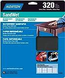 Norton 48080 Sand Wet Sandpaper 320 Grit, 9-Inch x 11-Inch, 5-Pack
