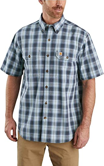 Carhartt - Camisa de cuadros de manga corta para hombre: Amazon.es: Ropa y accesorios