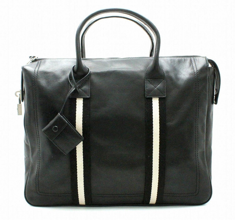 [バリー] BALLY トレインスポッティング ビジネスバッグ ブリーフケース 書類カバン トートバッグ ハンドバッグ レザー 黒 ブラック 白 ホワイト B07D1WCTZQ
