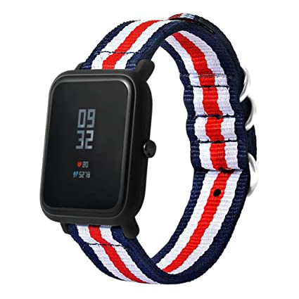 For Xiaomi Huami Amazfit Band, Gotd Canvas Replacement Band Strap Bracelet Watch Strap Wristband With