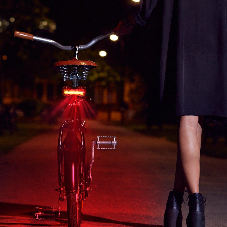 Albrillo COB LED /Éclairage Pour V/élo USB Rechargeable Lampe Arri/ère Pour V/élo puissant 120LM Lumi/ère 6 modes d/'Eclairage Lampe de S/écurit/é de Cyclisme Facile /à Installer Imperm/éable