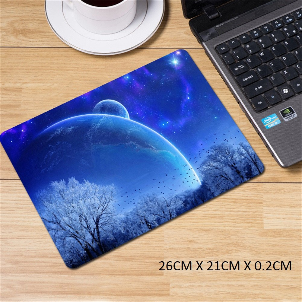 LL-COEUR XXL Gaming Alfombrilla de Ratón Computer Escritorio Cielo mm) Estrellado Mouse Pad (800 x 500 x 3 mm) Cielo c93960