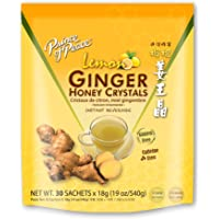 Prince of Peace Instant Lemon Ginger Honey Crystals, 30 Sachets – Instant Hot or Cold Beverage for Nausea Relief and…