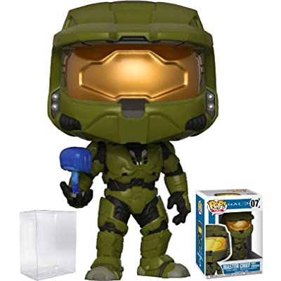 Funko Pop! Games: Halo - Master Chief with Cortana Vinyl Figure (Bundled with Pop Box Protector Case): Toys & Games