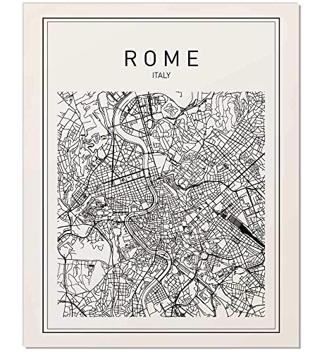 Amazon.com: Rome Map, Rome Print, Map of Rome, Italy Map, Italy Wall ...