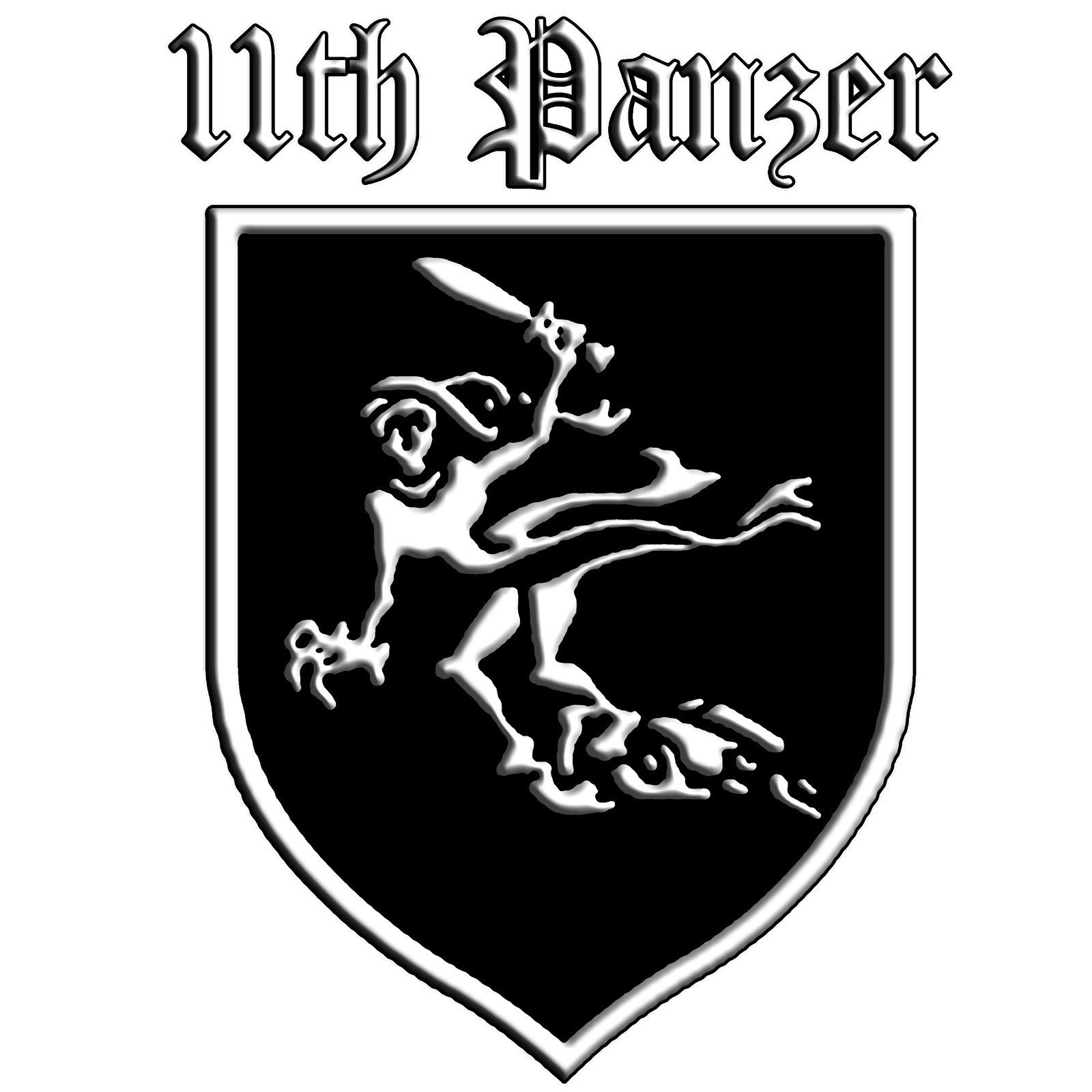Galleon 11th panzer division ghost zusatzsymbol ww2 tiger tank german army vinyl decal by achtung t shirt llc
