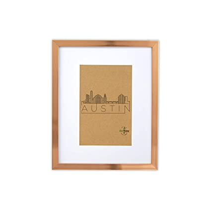 Amazon.com: 8x10 Picture Frame Rose Gold - Frames by EcoHome: Home ...