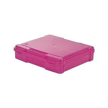 24 F/ächer transparent Sortierbox// Bastellkoffer// Ordnungsbox// Aufbewahrungsbox Project Case Kunststoff IRIS 33 x 31 x 7,7 cm PJC-300