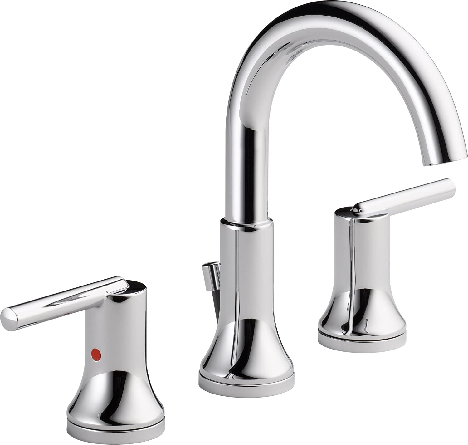 Delta Faucet 3559 MPU DST Trinsic, Widespread Bath Faucet With Metal  Pop Up, Chrome   Two Handle Tub Only Faucets   Amazon.com