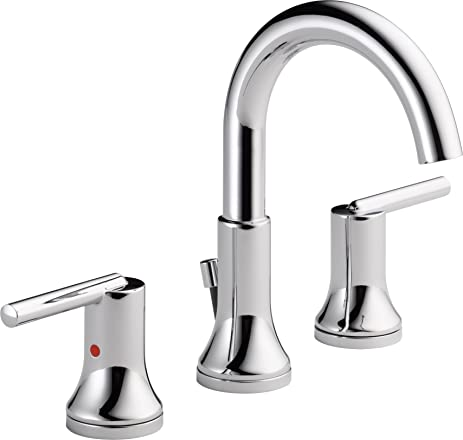 delta faucet 3559mpudst trinsic widespread bath faucet with metal pop