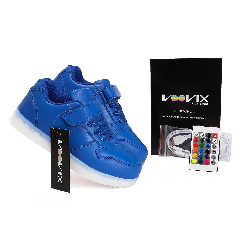 DoGeek Unisex Hombres Mujeres 7 Colores Light Up LED Zapatos Blanco Negro (Mejor Pedir Una Talla Más) (33EU, Negro2)