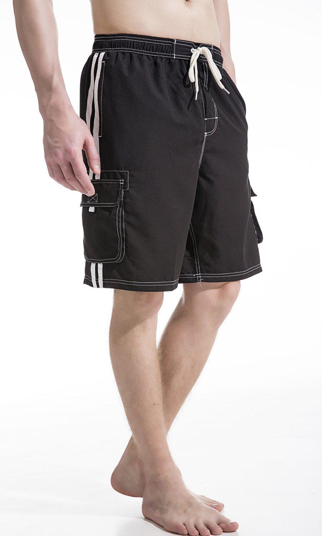 Akula Mens Shorts Swim Trunks with Cargo Pockets