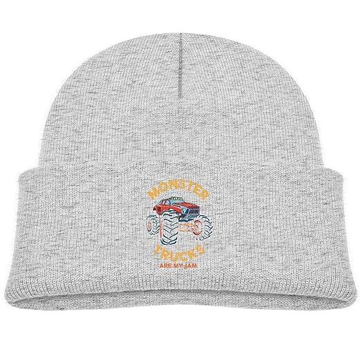 3a572624c44 Amazon.com  Monster Trucks are My Jam Beanie Cap Knit Hat Baby Girl ...
